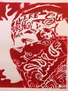 Bandana Man Red by Abstract Graffiti