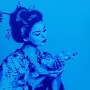 Blue Geisha by Abstract Graffiti