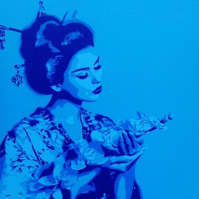 Blue Geisha by Abstract Graffiti