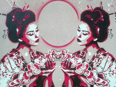 Mirror Geisha by Abstract Graffiti