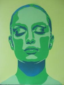 Skin Deep Green by Abstract Graffiti