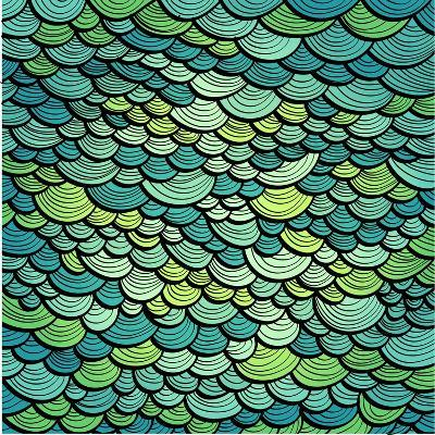 Abstract Green Marine Background Imitating Fish Scales. Raster Version of the Vector Image-tairen-Art Print