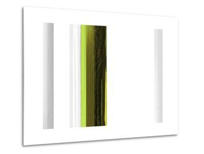 Abstract Green on White-NaxArt-Metal Print