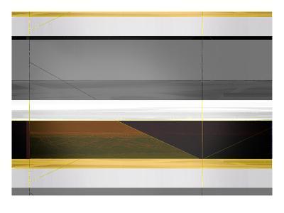 Abstract Grey and Yellow Stripes-NaxArt-Art Print