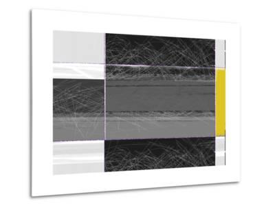 Abstract Grey and Yellow-NaxArt-Metal Print