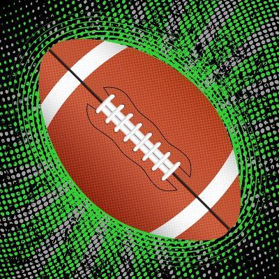 Abstract Grunge American Football. Illustration- Julydfg-Art Print