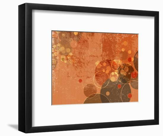 Abstract Grunge Background with Circles and Dots-one AND only-Framed Photographic Print