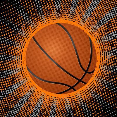 Abstract Grunge Basketball. Illustration- Julydfg-Art Print