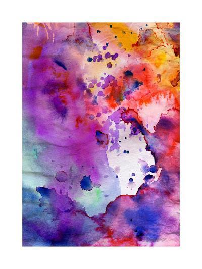 Abstract Grunge Texture With Paint Splatter-run4it-Art Print