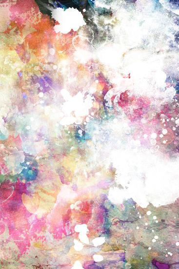 Abstract Grunge Texture With Watercolor Paint Splatter-run4it-Art Print