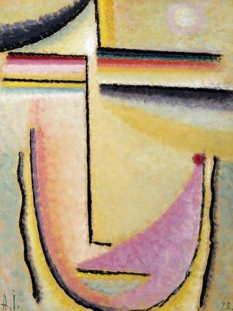 Abstract Head; Abstrakter Kopf, 1928-Alexej Von Jawlensky-Giclee Print