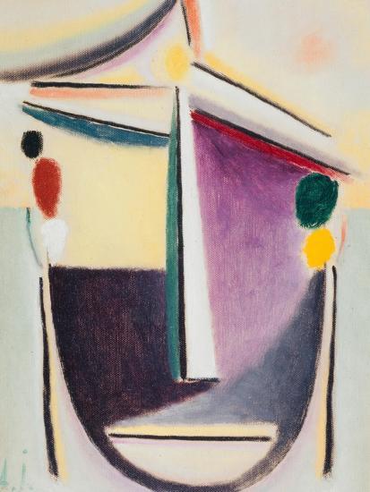 Abstract Head: Black-Yellow-Purple, c.1922-Alexej Von Jawlensky-Giclee Print
