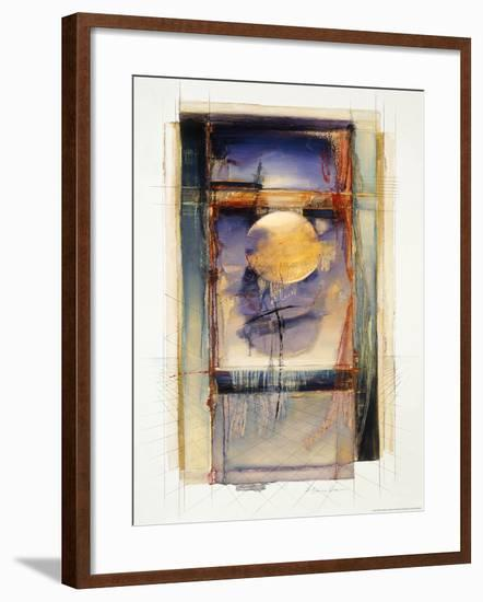 Abstract I-Dean Bruce-Framed Art Print