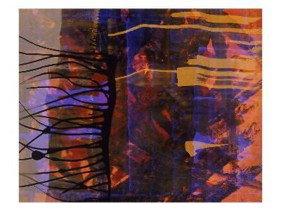 Abstract Image in Black, Blue, and Red-Daniel Root-Giclee Print