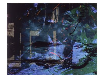 Abstract Image in Blue and Green-Daniel Root-Giclee Print