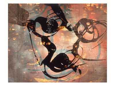 Abstract Image in Brown and Black-Daniel Root-Giclee Print