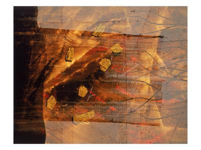 Abstract Image in Brown and Red-Daniel Root-Giclee Print