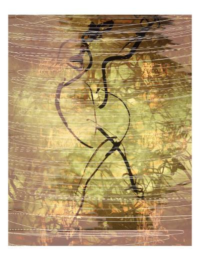 Abstract Image in Green, Yellow, and Black-Daniel Root-Giclee Print