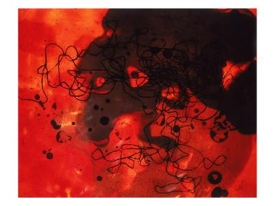 Abstract Image in Red and Black-Daniel Root-Giclee Print