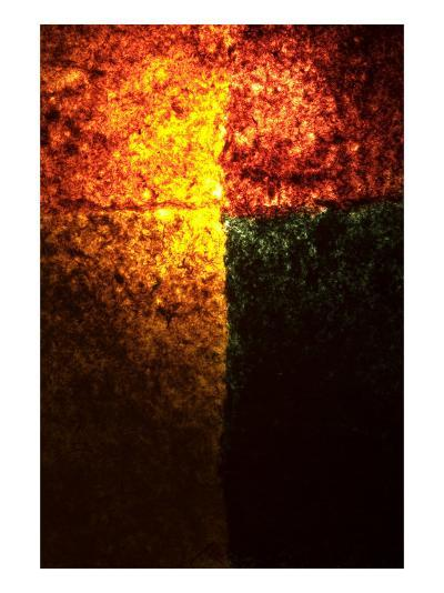 Abstract Image in Red, Yellow, and Green-Daniel Root-Giclee Print