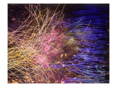 Abstract Image in Yellow and Blue-Daniel Root-Giclee Print