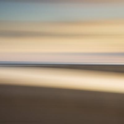 Abstract Image of the View from Alnmouth Beach to the North Sea, Alnmouth, England, UK-Lee Frost-Photographic Print