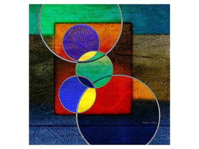 Abstract intersect IIIa-Catherine Kohnke-Art Print