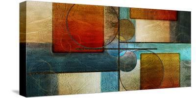 Abstract Intersections Panels I-Karin Connolly-Stretched Canvas Print