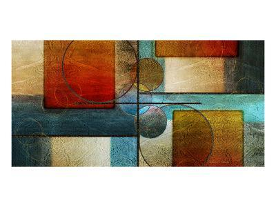 Abstract Intersections Panels I-Karin Connolly-Art Print