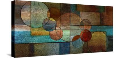 Abstract Intersections Panels II-Karin Connolly-Stretched Canvas Print