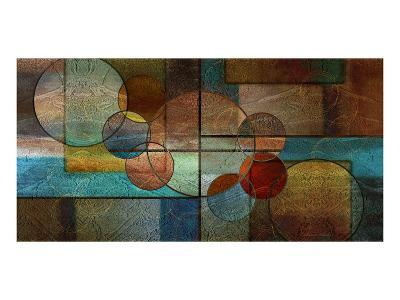 Abstract Intersections Panels II-Karin Connolly-Art Print