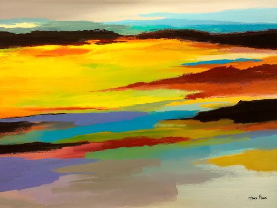Abstract Landscape 3-Hans Paus-Art Print