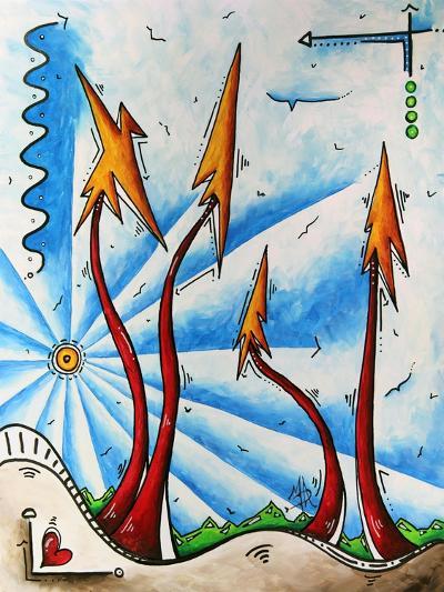 Abstract Landscape Fun PoP Art Tree-Megan Aroon Duncanson-Art Print
