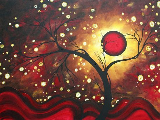 Abstract Landscape Glowing Orb-Megan Aroon Duncanson-Art Print