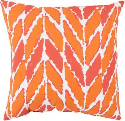 Abstract Leaves Pillow - Tangerine