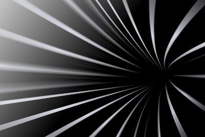 Abstract Line Black And White Background- Kheat-Art Print