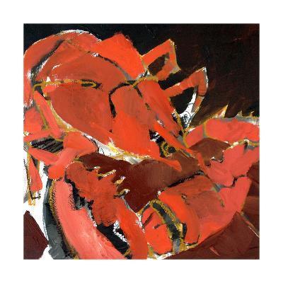 Abstract Lobster V-Erin McGee Ferrell-Art Print