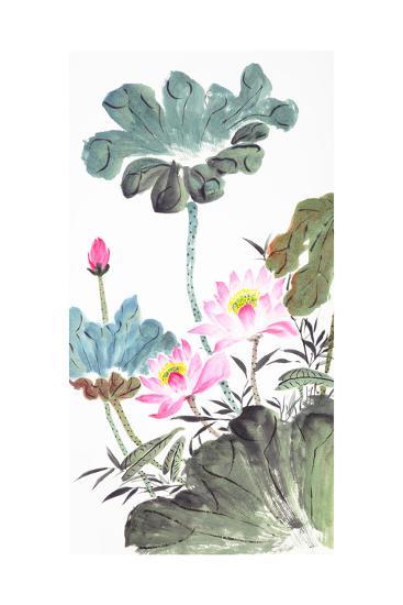 Abstract Lotus-Traditional Chinese Painting-aslysun-Art Print