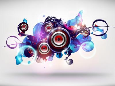 Abstract Loudspeakers-theromb-Art Print