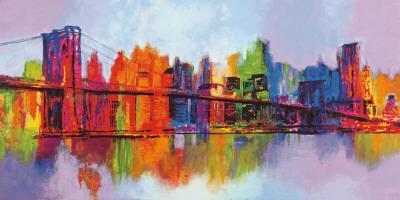 Abstract Manhattan-Brian Carter-Art Print