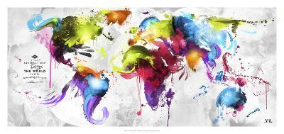 Abstract Map - World--Giclee Print