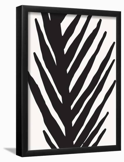 Abstract Minimal Palm-Modern Tropical-Framed Art Print