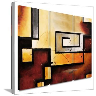 Abstract Modern 3 piece gallery-wrapped canvas-Jim Morana-Gallery Wrapped Canvas Set