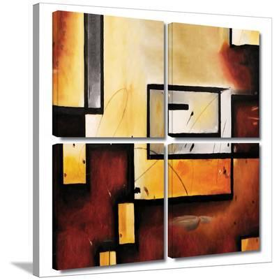Abstract Modern 4 piece gallery-wrapped canvas--Gallery Wrapped Canvas Set