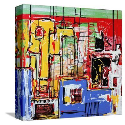 Abstract Modern Art Mural--Stretched Canvas Print