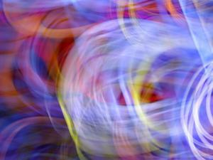 Abstract Motion Blur Pattern of Colorful Swirling Lights