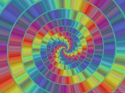 Abstract Multi-Coloured Spiral Design-Albert Klein-Photographic Print