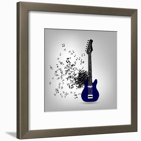 Abstract Music Illustration for Your Design-Oleg Gapeenko-Framed Art Print