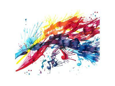 Abstract Music-okalinichenko-Art Print