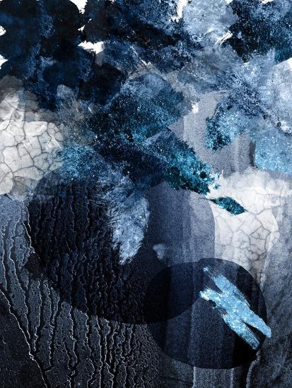 Abstract Navy White 1-Urban Epiphany-Art Print